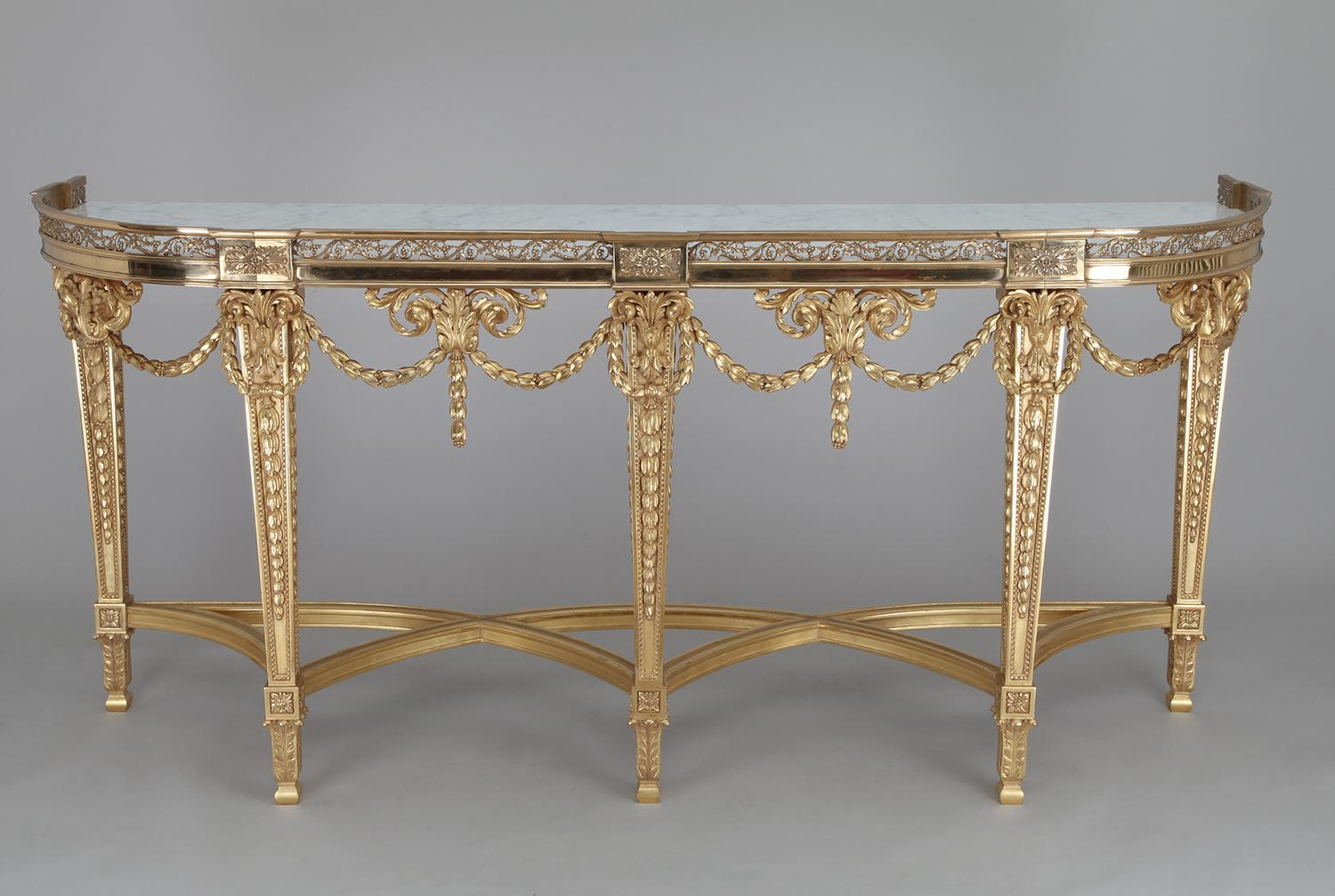 5 foot console table LOUIS XVI