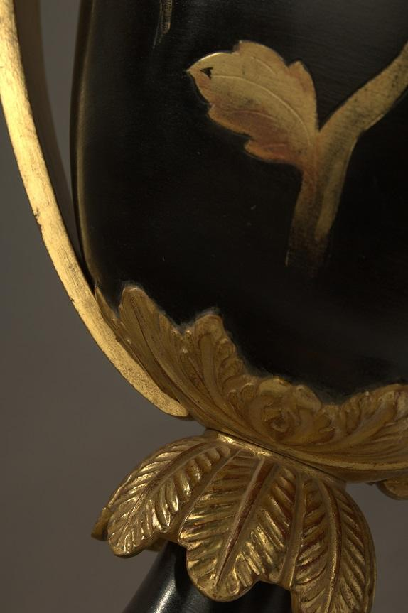 Cups black and gold LOUIS XVI