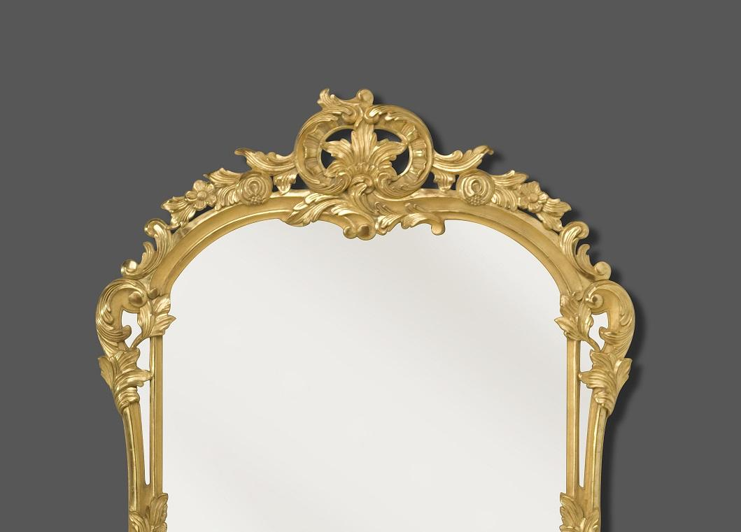 Miroir louis xv for Miroir in english